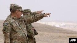 چند نظامی آمریکایی در پایگاه الزرقا در اردن/ عکس آرشیوی است.