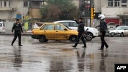 مياه مع أول هطول للأمطار في شوارع بغداد