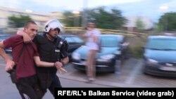 Imagini de la protestele din Muntenegru