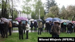 Protest ratnih veterana, 9. april 2014.