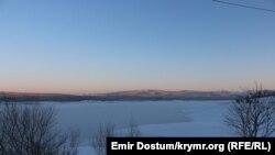 Сімферопольське водосховище замерзло