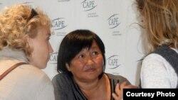 Human rights activist Tolekan Ismailova in a September photo