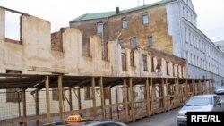 Рэшткі старой забудовы ў гістарычным цэнтры Менску