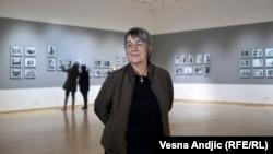 Goranka Matić na otvaranju retrospektivne izložbe u Muzeju savremene umetnosti u Beogradu