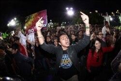 Манифестация в Кито против начала добычи нефти в Ясуни