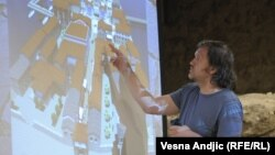 Emir Kusturica sa planom Andrićgrada