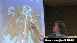 Emir Kusturica tokom prezentacije projekta Andrićgrada