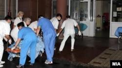 Повредените во пожарот кај Струмица хоспитализирани во Градската болница во Скопје.