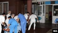 Повредените во пожарот кај Струмица хоспитализирани во Градската болница во Скопје .