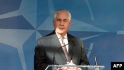 Госсекретарь США Рекс Тиллерсон (Брюссель, 31 марта 2017 г.)