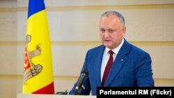 Igor Dodon în Parlament, 8 noiembrie 2019