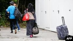 یک خانواده پناهجو در هامبورگ