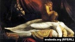 """Генры Фюзэлі, """"Начны кашмар"""" (1781)"""