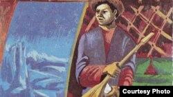 """Уәйіс Шондыбайұлының """"Уақыт өрнегі"""" атты кітабының сыртқы мұқабасындағы сурет. Алматы, 8 тамыз 2012 жыл."""