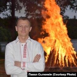 Павал Сьлюнькін на сьвяткаваньні Купальля беларусамі Літвы