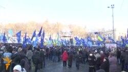 Kiyevdə prezident tərəfdarlarının mitinqi