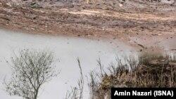 تصویری از تالاب هورالعظیم که به گفته مقامهای سازمان محیط زیست ۷۰ درصد از آن آبگیری شده است.