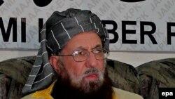"""Глава делегации """"Талибана"""" на переговорах с властями Пакистана Мавлана Сами-уль-Хак в Пешаваре. Иллюстративное фото."""