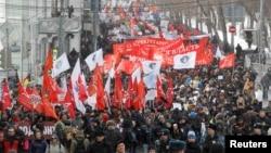 Левый марш оппозиции в Москве, март 2013 года