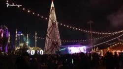 В Грозном зажгли главную елку республики