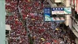Сотни тысяч жителей Гонконга вышли на акцию против закона об экстрадиции