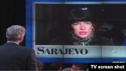 Javljanje Christiane Amanpour iz Sarajeva 1994. i razgovor link vezom sa tadašnjim američkim predsjednikom Billom Clintonom.