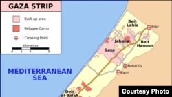 Gaza Strip -- Gaza Strip map, undated