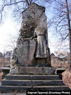 Пінск, надмагільле Лілі Тукальскай-Нелюбовіч, 1914, сучасны стан