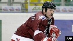 Belarusian President Alyaksandr Lukashenka is an avid hockey fan.