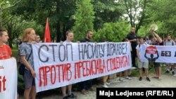 Protest u Novom Sadu protiv prebijanja studenata, 11. juni 2019.
