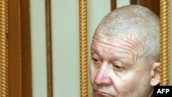 Serhiy Tkach in the dock during his trial in Dnipropetrovsk