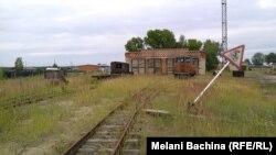 Бывшее железнодорожное депо в деревне Францево