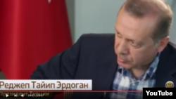 Президент Турции Реджеп Тайип Эрдоган дает интервью Российскому государственному информационному агентству ТАСС.