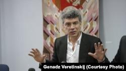 Барыс Нямцоў у Менску ў 2013 годзе. Фота Генадзя Верацінскага