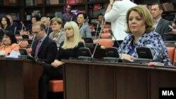 Специјалната јавна обвинителка Катица Јанева, и јавниот обвинител марко Зврлевски на Седница на собраниската Комисија за политички систем и односи меѓу заедниците
