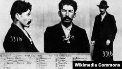 Регистрационная карточка петербургского охранного отделения со снимком И.В.Сталина. 1912г.