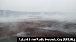 Торф'яники, що горять неподалік Києва, жовтень 2015 р.