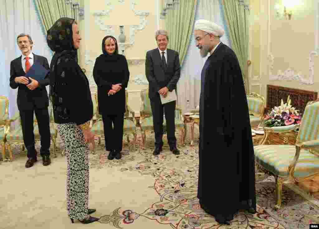 دیدار هیات وزرای ایتالیایی با حسن روحانی در تهران.