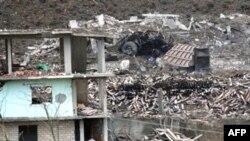 Pamje pas eksplodimit në Gërdec