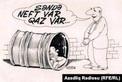 Paxıllıq. Rəşid Şerifin karikaturası