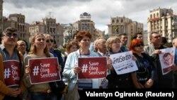 Акція на підтримку Олега Сенцова в Києві, 1 липня 2018 року