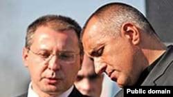 Premierul Stanișev și primarul Sofiei, Borisov
