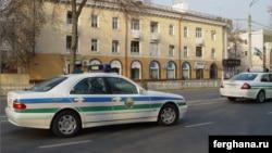 Toshkent militsiyasi avtomobillari.