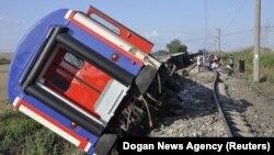 Pamja nga incidenti me tren në Turqi.