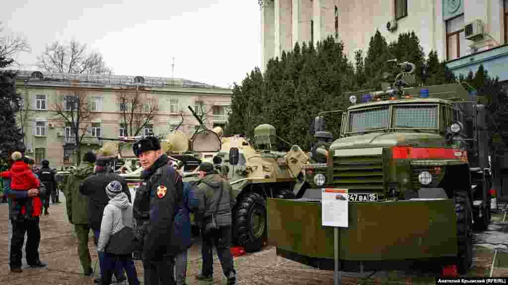 Площадка для боевой техники Росгвардии