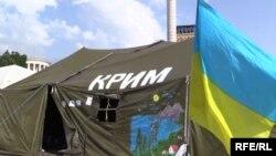 Лагерь беженцев под Киевом
