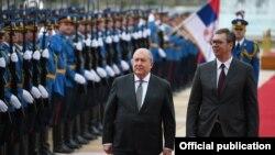 Predsednik Jermenije Armen Sarkisijan i Srbije Aleksandar Vučić u Beogradu