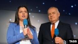 """""""Russia today"""" լրատվական գործակալության ղեկավարներ Մարգարիտա Սիմոնյանը և Դմիտրի Կիսելյովը, արխիվ"""