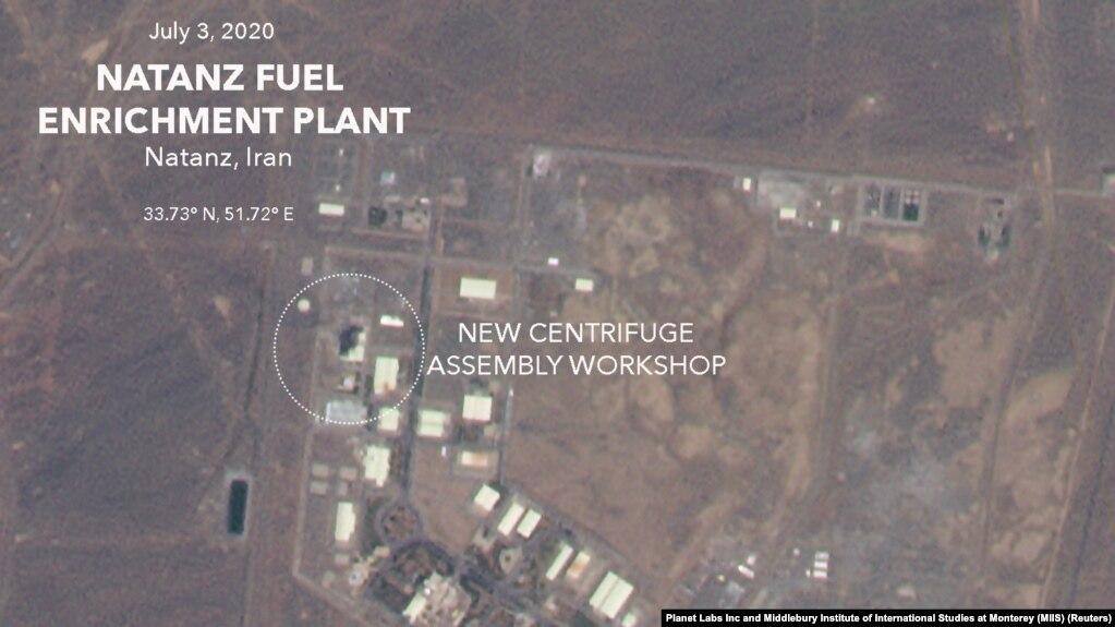 تصویر هوایی از بخشی از تأسیسات هستهای نطنز پس از وقوع انفجار
