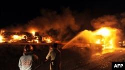 Әфганстанга йөк ташучы НАТО машиналарына һөҗүмнәр артты